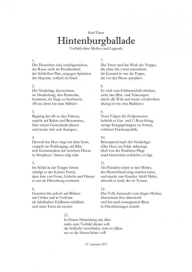 Hintenburgballade